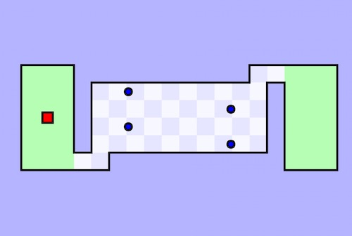 World's Hardest Game: Version 1 - Unblocked Games