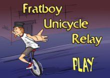 Frat Boy Unicycle Relay
