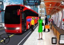 Modern City Bus Driving