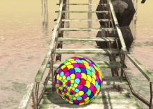 Island Survival 3D (Roll the Ball on Bridge)