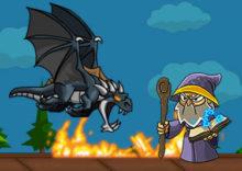 Dragon vs Maze (Help the Sorcerer)